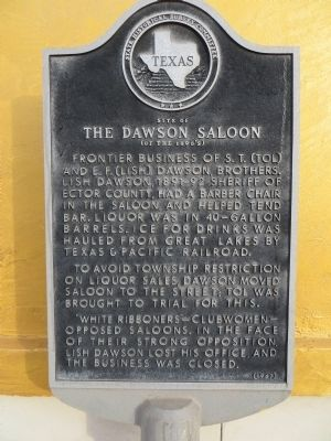 Site of The Dawson Saloon Marker image. Click for full size.
