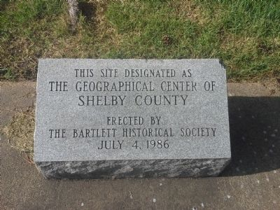 The Geographical Center of Shelby County Marker image. Click for full size.