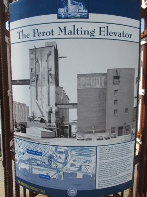 The Perot Malting Elevator Marker image. Click for full size.