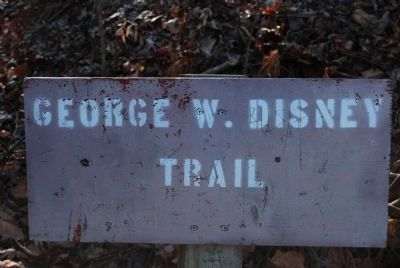 George Disney's Grave Trail Marker image. Click for full size.