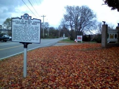 Battle of Mossy Creek Marker image. Click for full size.