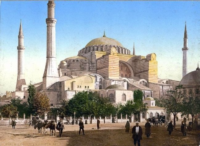 <i>The Mosque of St. Sophia, Constantinople, Turkey</i> image. Click for full size.