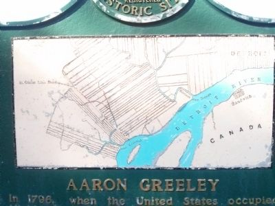 Aaron Greeley / St Cosme Line Road Marker image, Touch for more information