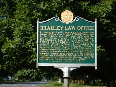 Bradley Law Office Marker image. Click for full size.