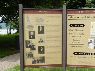 Fort Hunter History Marker image. Click for full size.