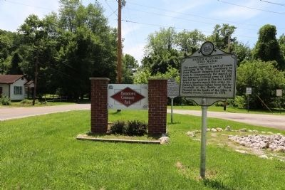 Andrew & Charles Lewis March Marker at Hometown Community Park image. Click for full size.