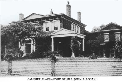 Calumet Place - Home of Mrs. John A. Logan image. Click for full size.