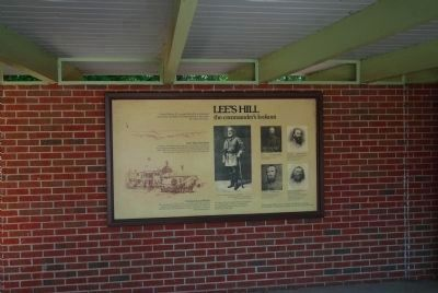 Marker in back center of the Exhibit Shelter image. Click for full size.