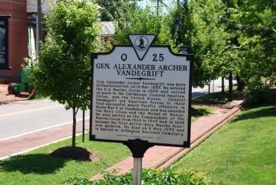 Gen. Alexander Archer Vandegrift Marker image. Click for full size.