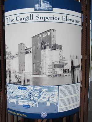 The Cargill Superior Elevator Marker image. Click for full size.