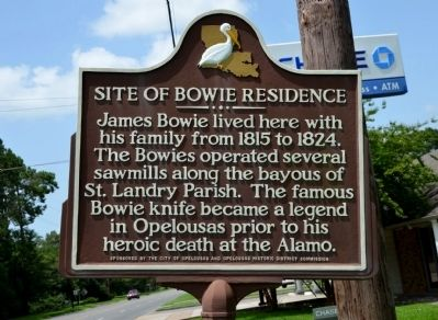 Site of Bowie Residence Historical Marker image. Click for full size.