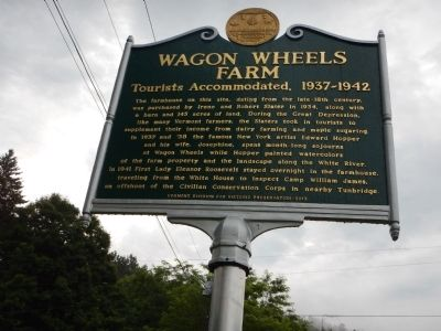 Wagon Wheels Farm Marker image. Click for full size.
