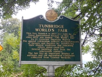 Tunbridge World's Fair Marker image. Click for full size.