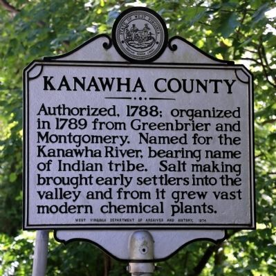 Kanawha County Face of Marker image. Click for full size.