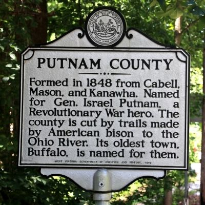 Putnam County Face of Marker image. Click for full size.