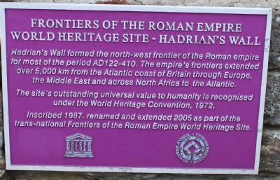 Frontiers of the Roman Empire Marker image. Click for full size.