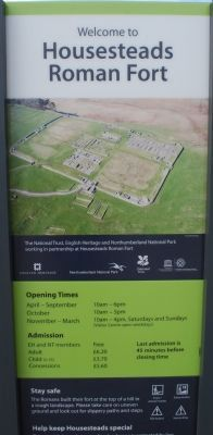 Housesteads Roman Center Visitor Centre Sign image. Click for full size.