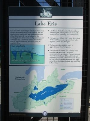 Lake Erie Marker image. Click for full size.