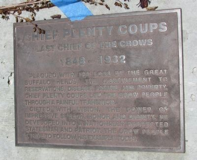 Chief Plenty Coups Marker image. Click for full size.