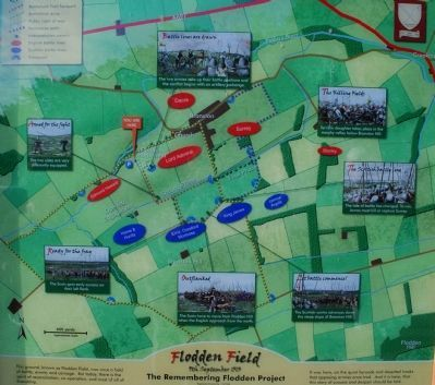 Flodden Field Map Close-up image. Click for full size.