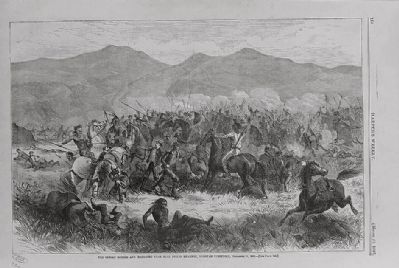 <i>The Indian Battle and Massacre Near Fort Philip Kearney, Dacotah Territory, December 21, 1866</i> image. Click for full size.