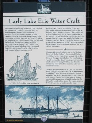 Early Lake Erie Water Craft Marker image. Click for full size.