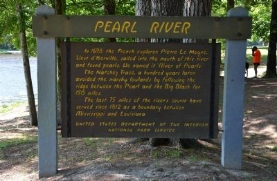 Pearl River Historical Marker image. Click for full size.