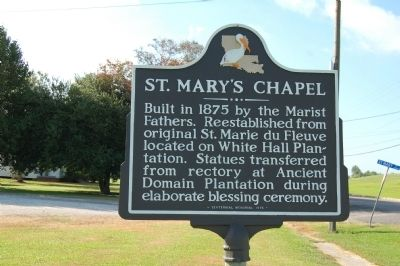 St. Mary's Chapel Marker image. Click for full size.