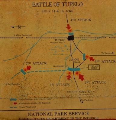 Battle of Tupelo Map image. Click for full size.