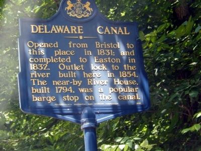 Delaware Canal Marker image. Click for full size.