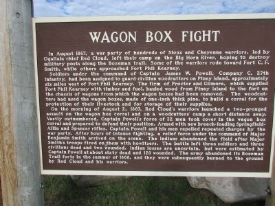 Wagon Box Fight Marker image. Click for full size.