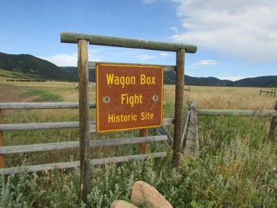 Wagon Box Fight State Historic Site image. Click for full size.