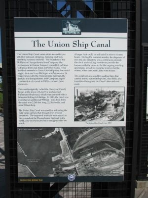 The Union Ship Canal Marker image. Click for full size.