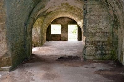 Inside Fort Pickens image. Click for full size.