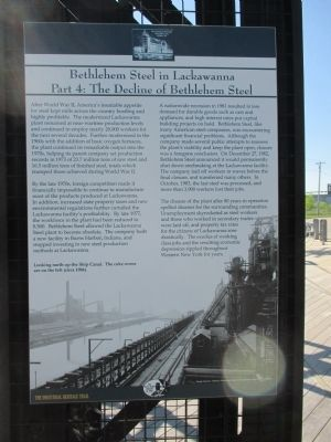 Bethlehem Steel in Lackawanna Marker image. Click for full size.