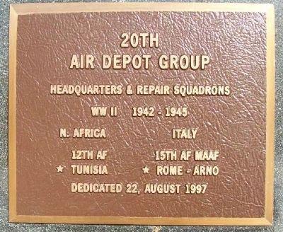 20th Air Depot Group Marker image. Click for full size.