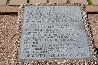 Abilene African-American Schools Marker image. Click for full size.