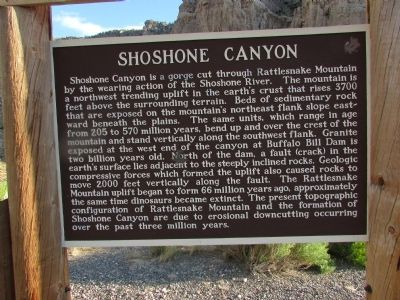 Shoshone Canyon Marker image. Click for full size.