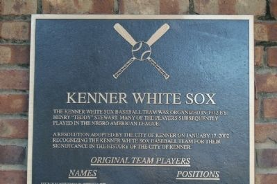 Kenner White Sox Marker image. Click for full size.