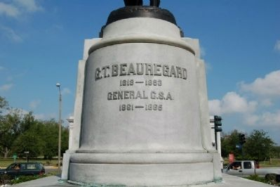 General Beauregard Equestrian Statue Marker image. Click for full size.