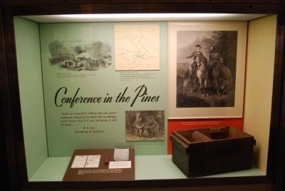 Chancellorsville Visitor Center Display image. Click for full size.
