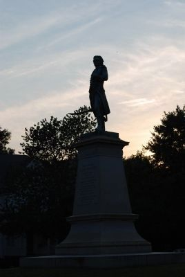 Hugh Mercer Marker at dawn image. Click for full size.