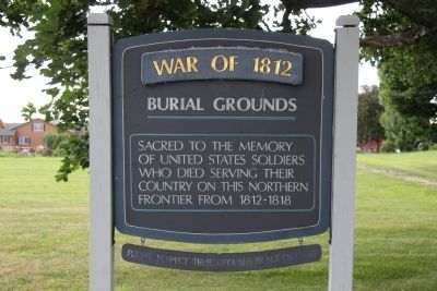 War of 1812, Burial Grounds Marker image. Click for full size.