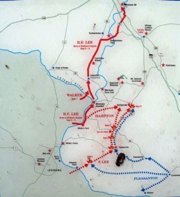 Map - Antietam Campaign image. Click for full size.