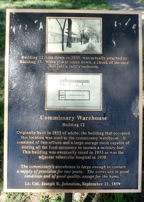 Commissary Warehouse Marker image. Click for full size.