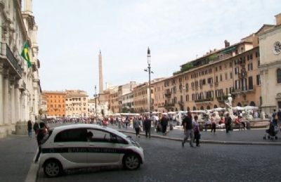 View of Navona Square from Marker image. Click for full size.