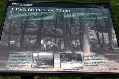 A Park for the Coal Miner Marker image. Click for full size.