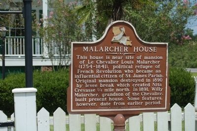 Malarcher House Marker image. Click for full size.