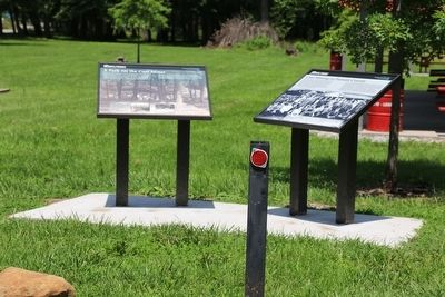 Two Markers in Hometown Community Park image. Click for full size.