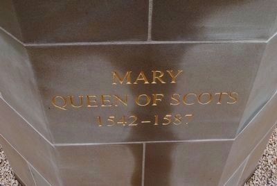 Mary Queen of Scots Statue Base (front) image. Click for full size.